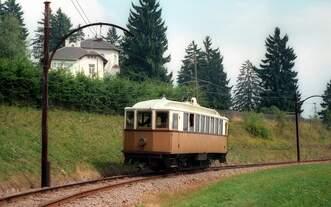 Rittnerbahn Tw 12 zwischen Oberbozen und Maria Himmelfahrt 3.9.1986